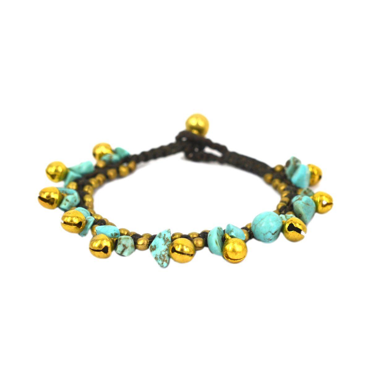 Stone Combri Brass Bracelet