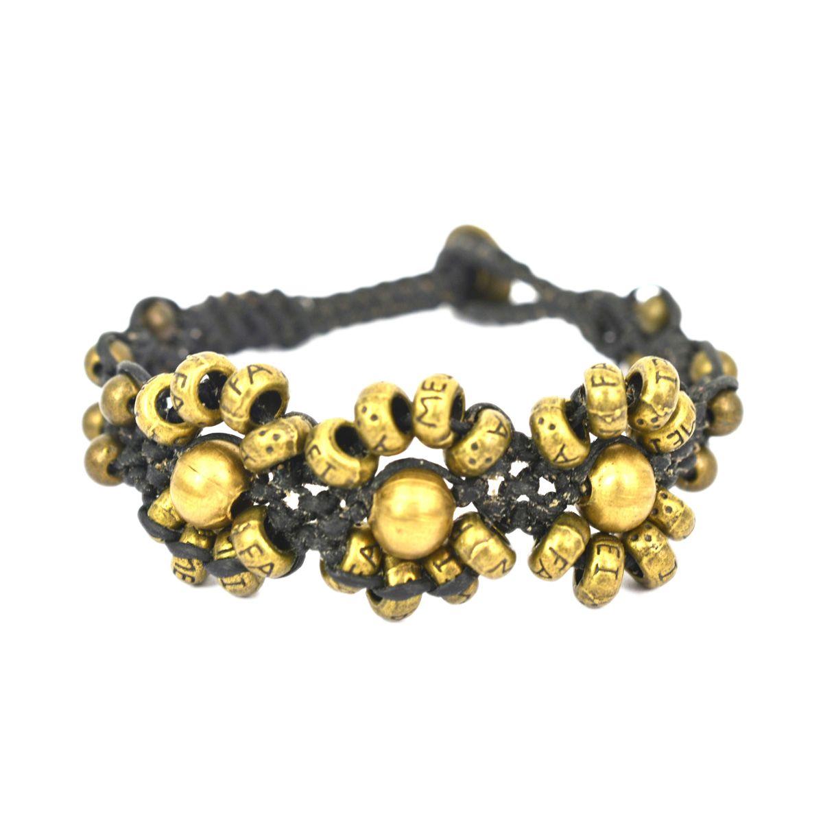 Combi Metal Brass Bracelet