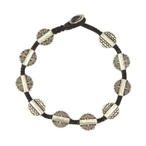 full metal arabesque round bracelet