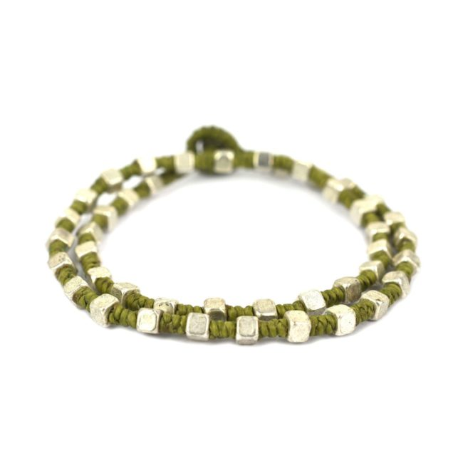 Two Round Silver Bracelet