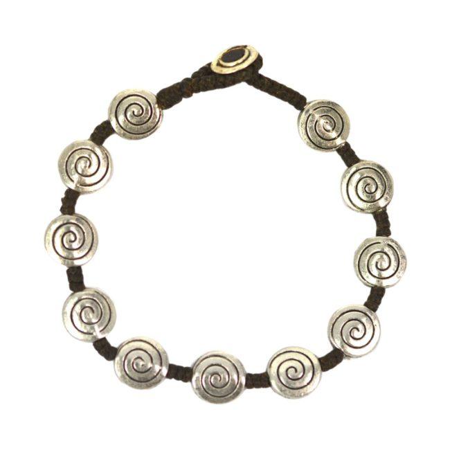 Full Metal Silver Bracelet spiral