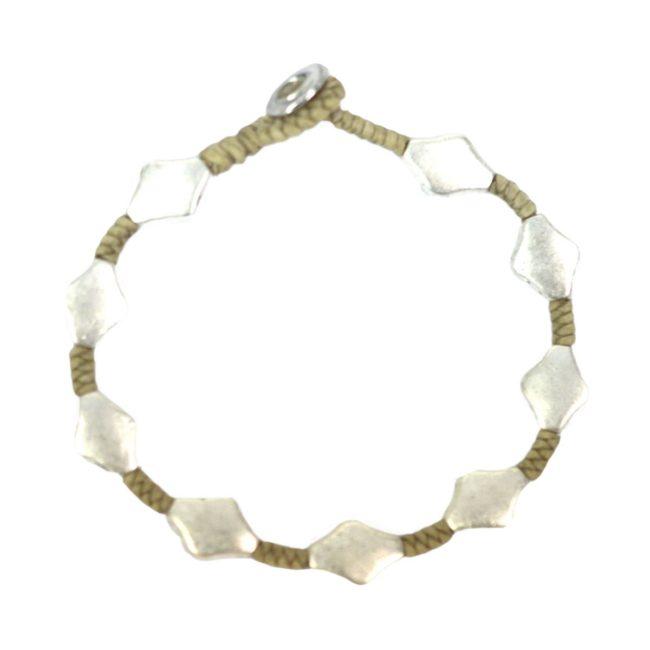 full metal bracelet rhombus