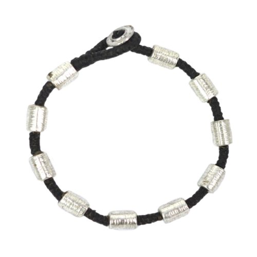 full metal silver bracelet tube