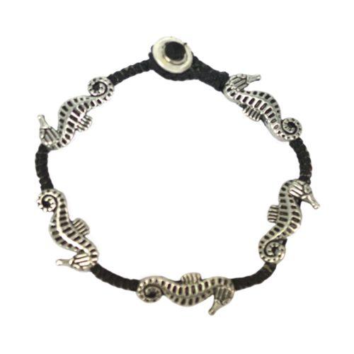 full metal bracelet seahorse
