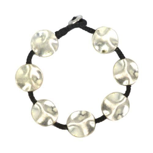 Full Metal Silver Bracelet Round