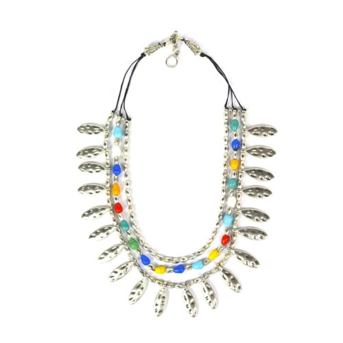 Stone Combi Multi String Necklace