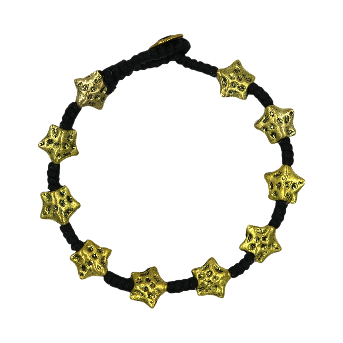 Full Brass Golden Bracelet hammered star