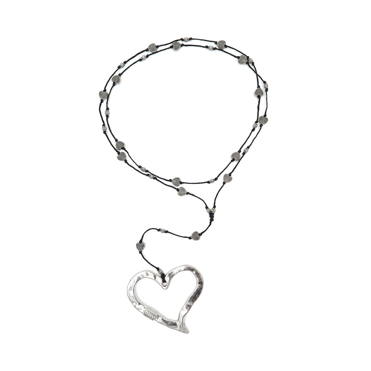 rosary necklace heart 08821356
