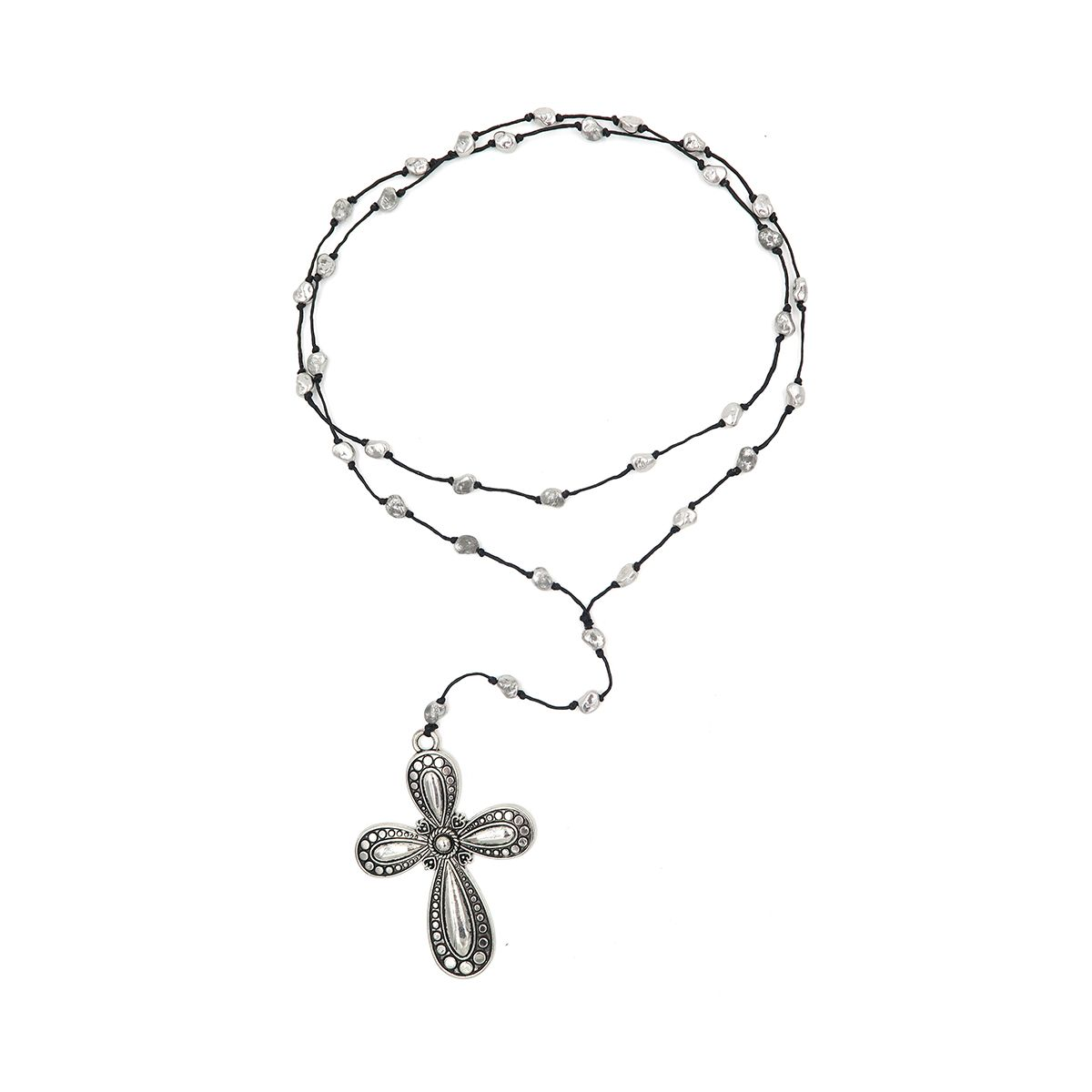 rosary necklace cross 08821357