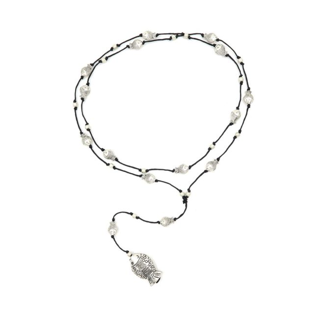rosary necklace fish 08821424