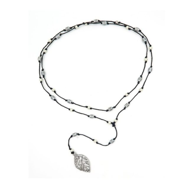 rosary necklace leaf 08821430