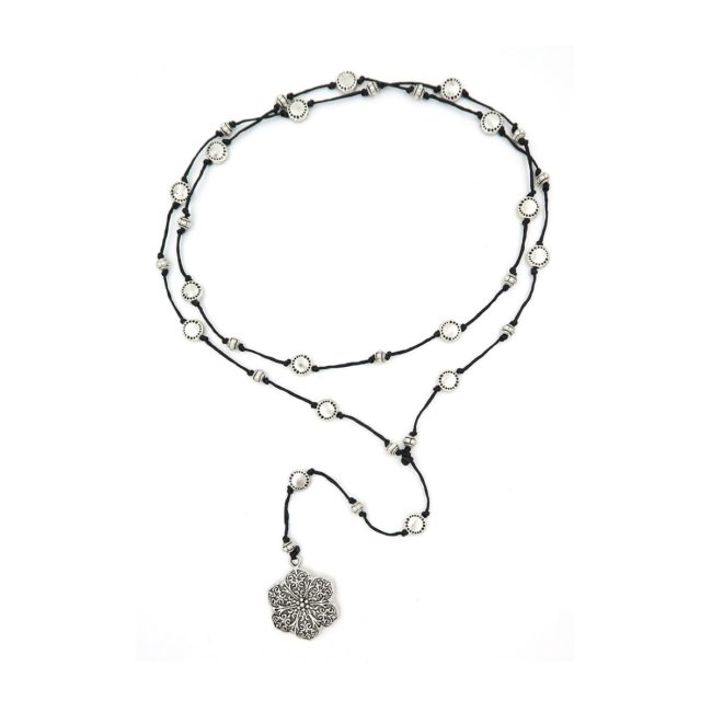 rosary necklace flower 08821444
