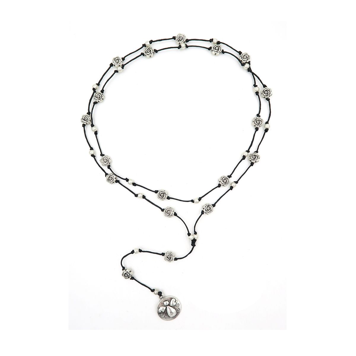 rosary necklace round angel 0882994