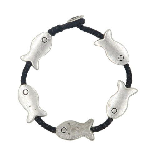full metal bracelet fish