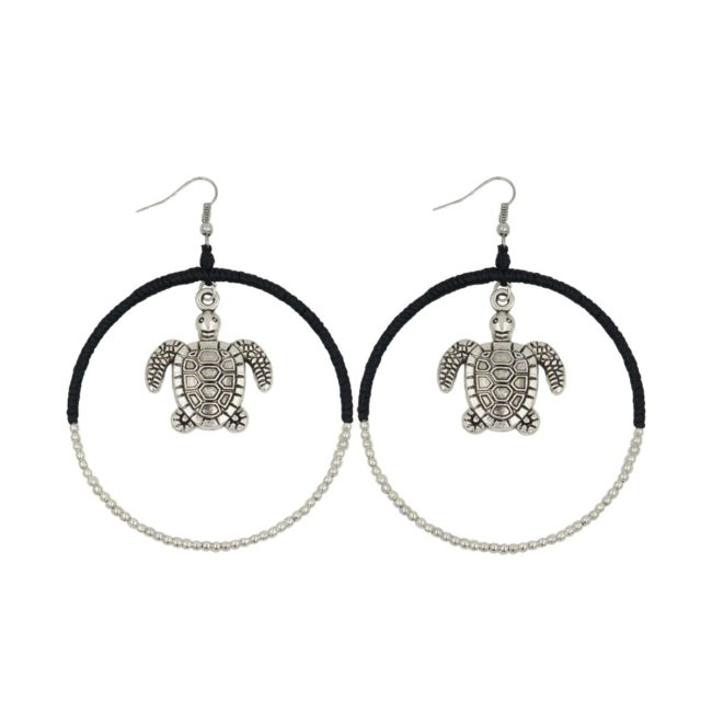 round earring turtle