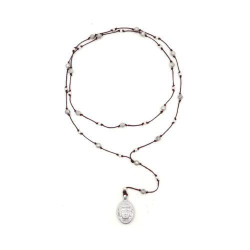 rosary necklace buddha head