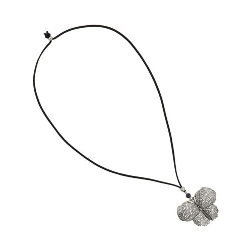 Suede Necklace Butterfly