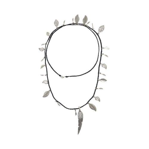 BOHO long necklace leaf
