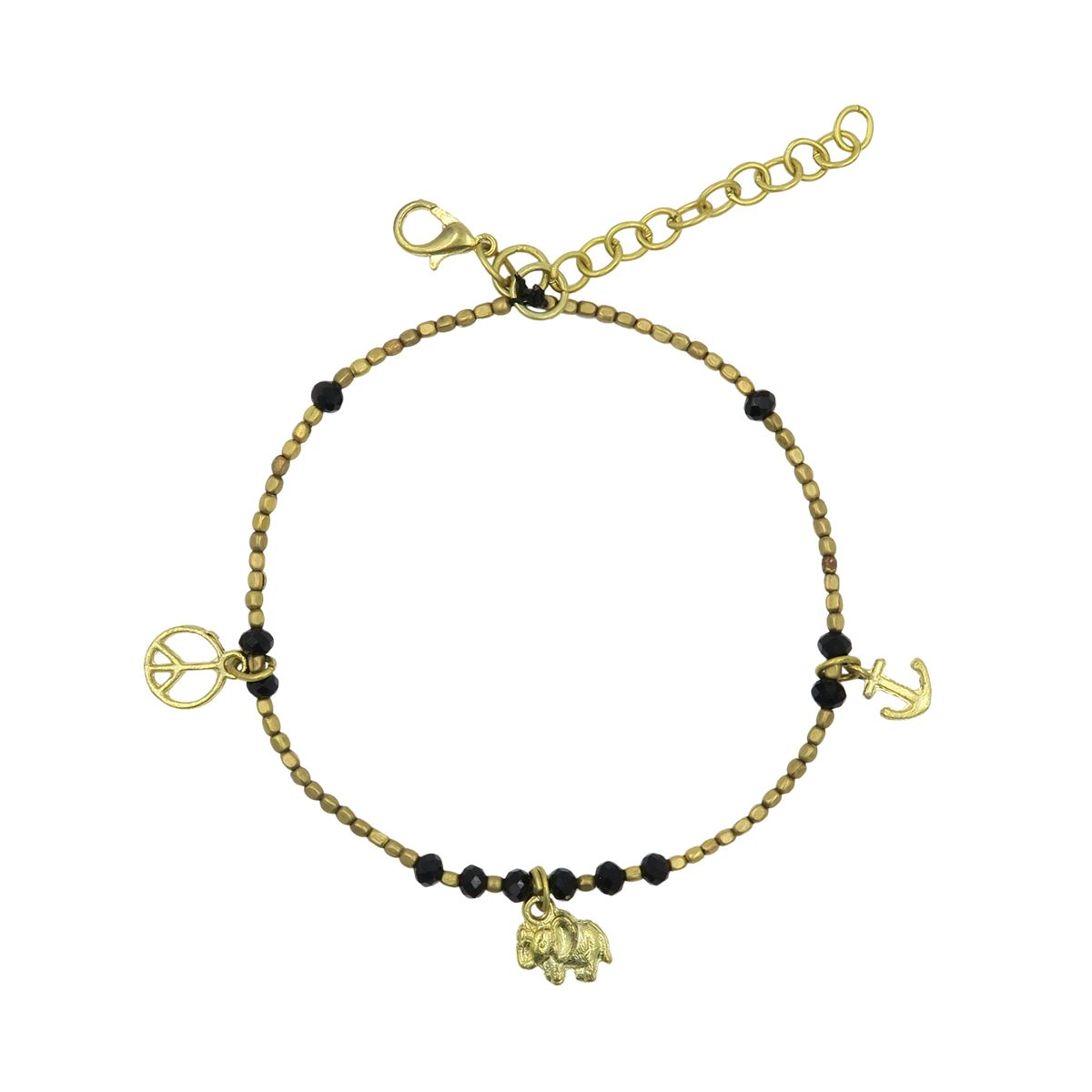 gold ball anklet fashion charm htm making chain p multiple plated
