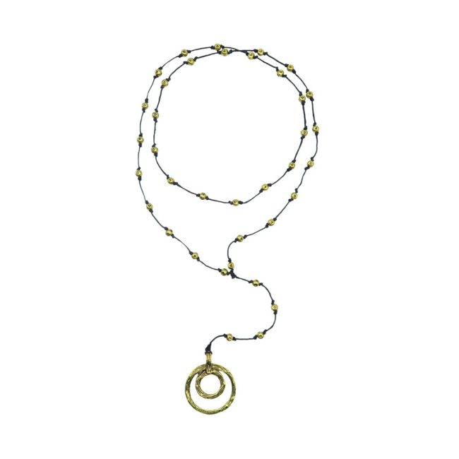 rosary necklace double hoop