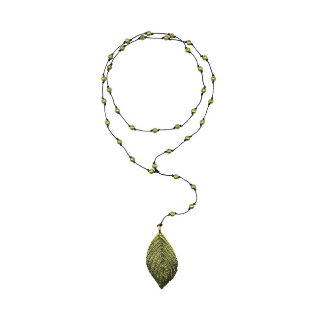 rosary necklace leaf