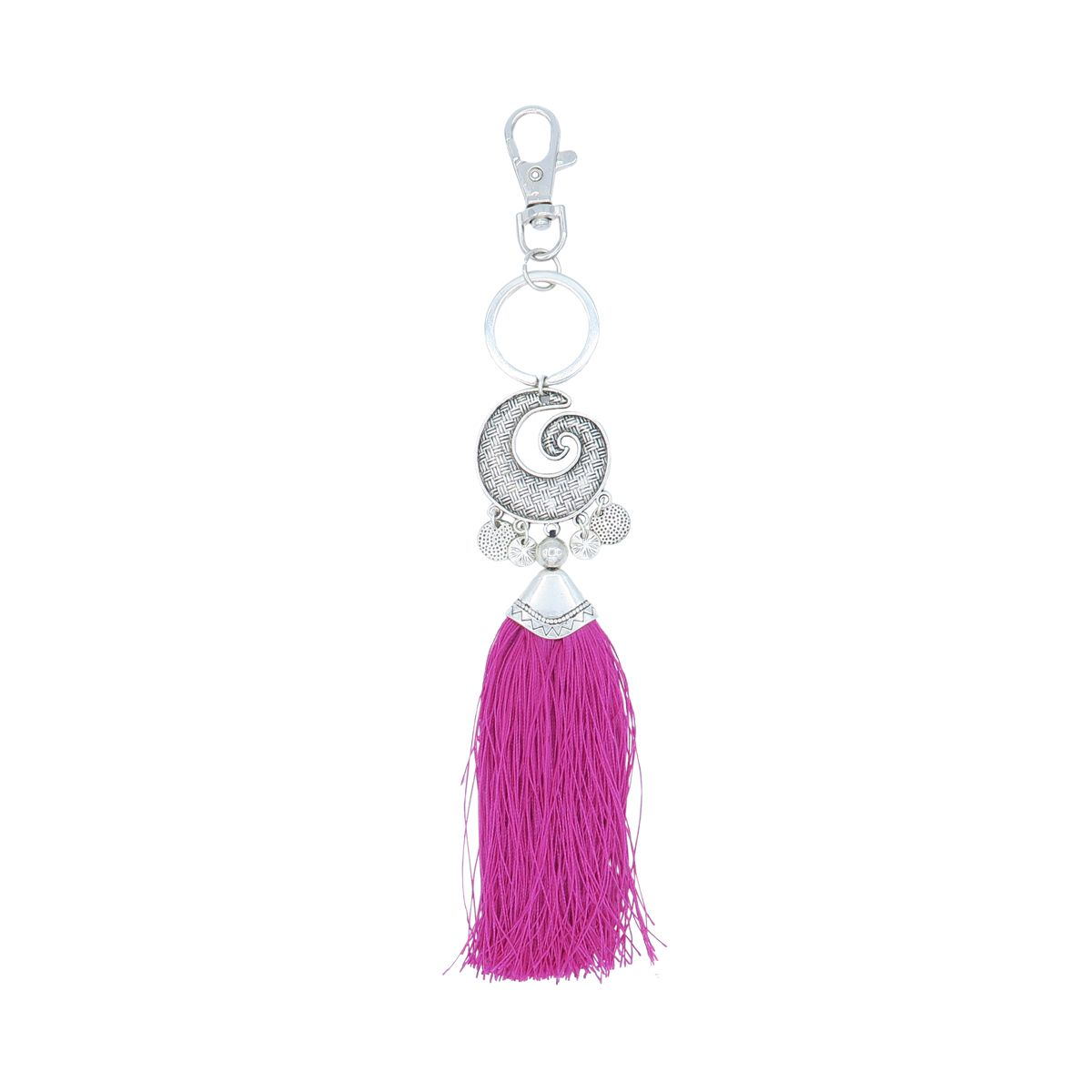 Made in Bali Spiral Tassel Keyring SKU 0382005