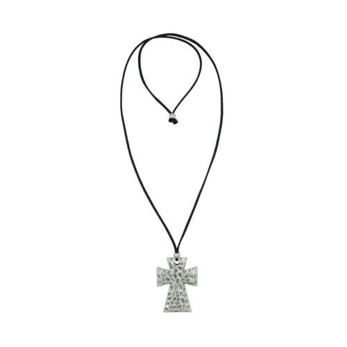 Cross Suede Necklace 08230051