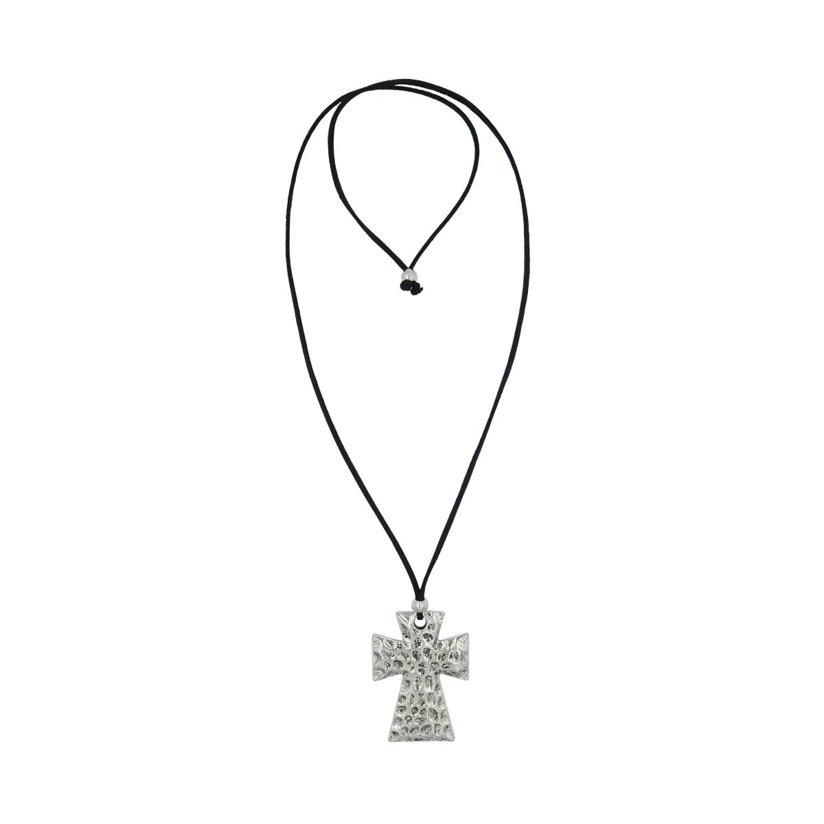 Cross Suede Necklace 08230051