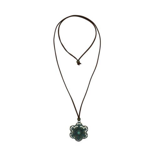 Flower Suede Necklace 08230267
