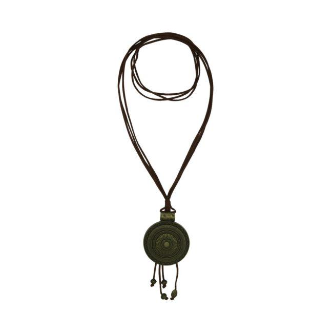 Round Suede Necklace