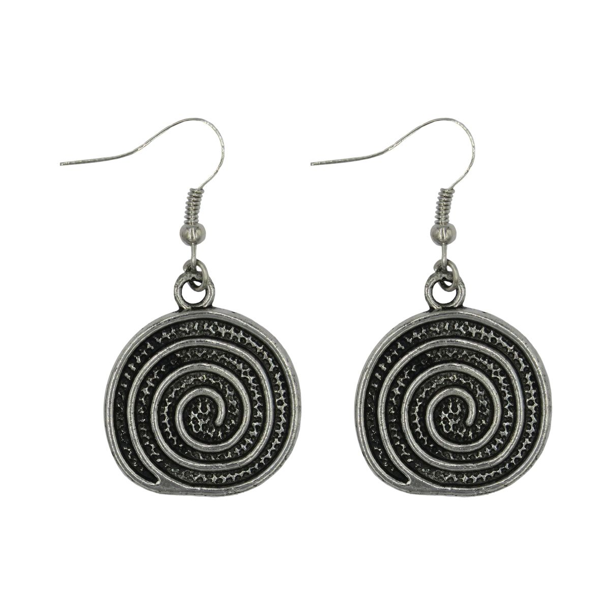 Spiral Round Earrings